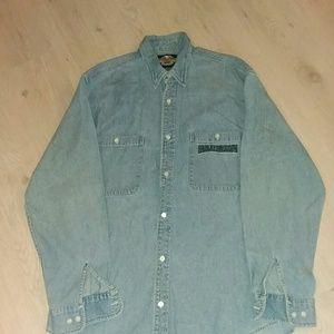 Harley-Davidson size large jean shirt